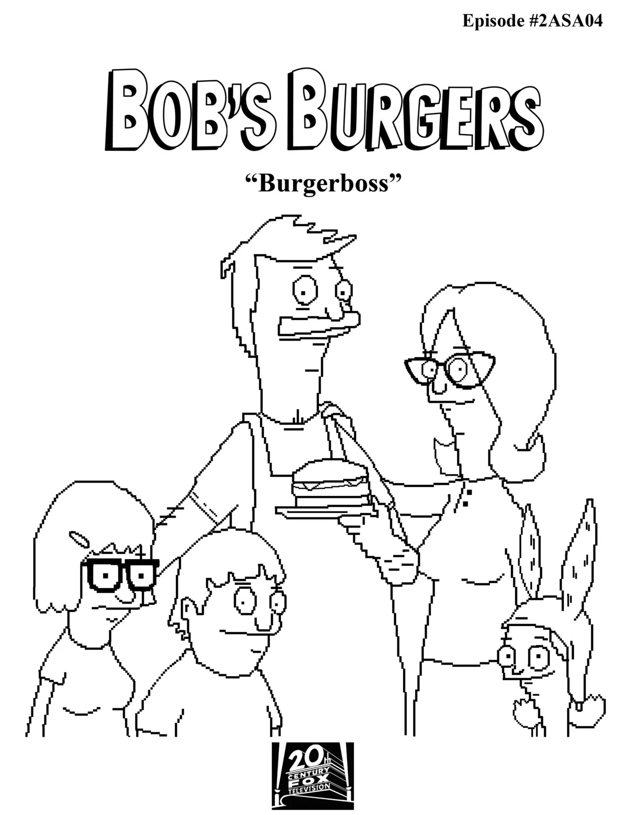 Tina Bobs Burgers Coloring Page Coloring Pages