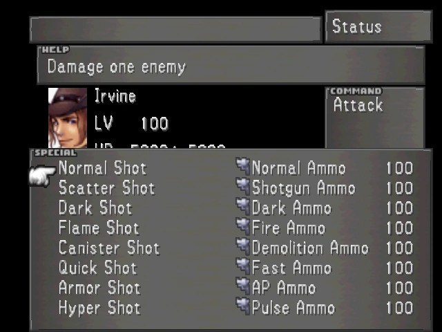 Menu Final Fantasy VIII The Final Fantasy Wiki 10