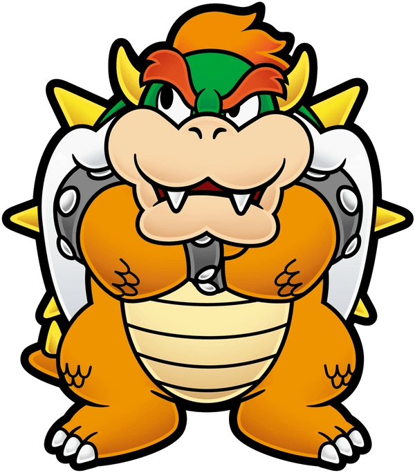 Bowser Paper Dimentio Dark Mario