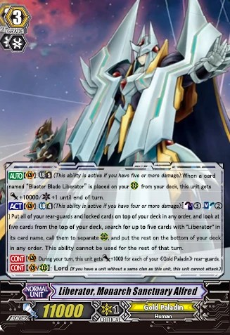 card review Liberator Monarch Sanctuary Alfred at Trade