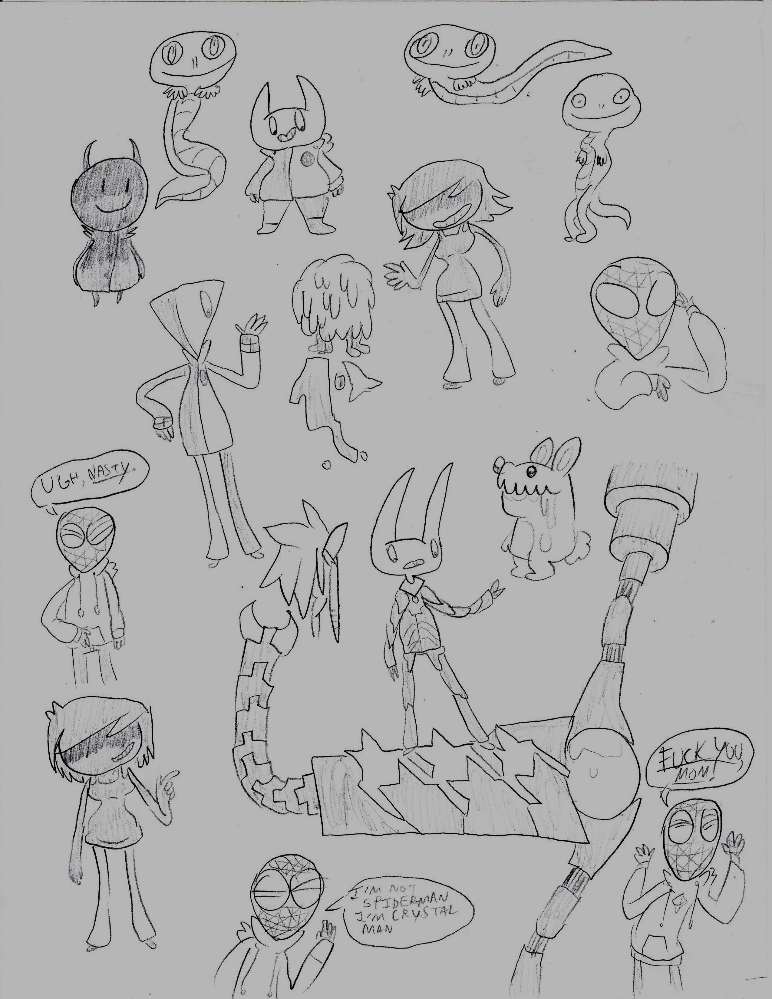 User blog:Exotoro/890th Blog: Here's Some Doodles I Guess