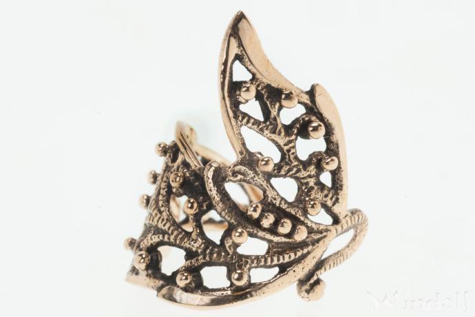 Ohr  Haarklemme  ELFENFLGEL  Haarschmuck  Bronze