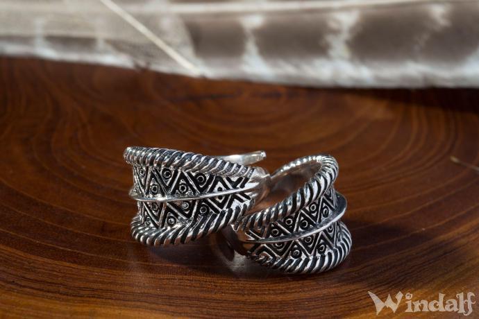 Wikinger Ring  ALVIAN  Grenverstellbar  Silber
