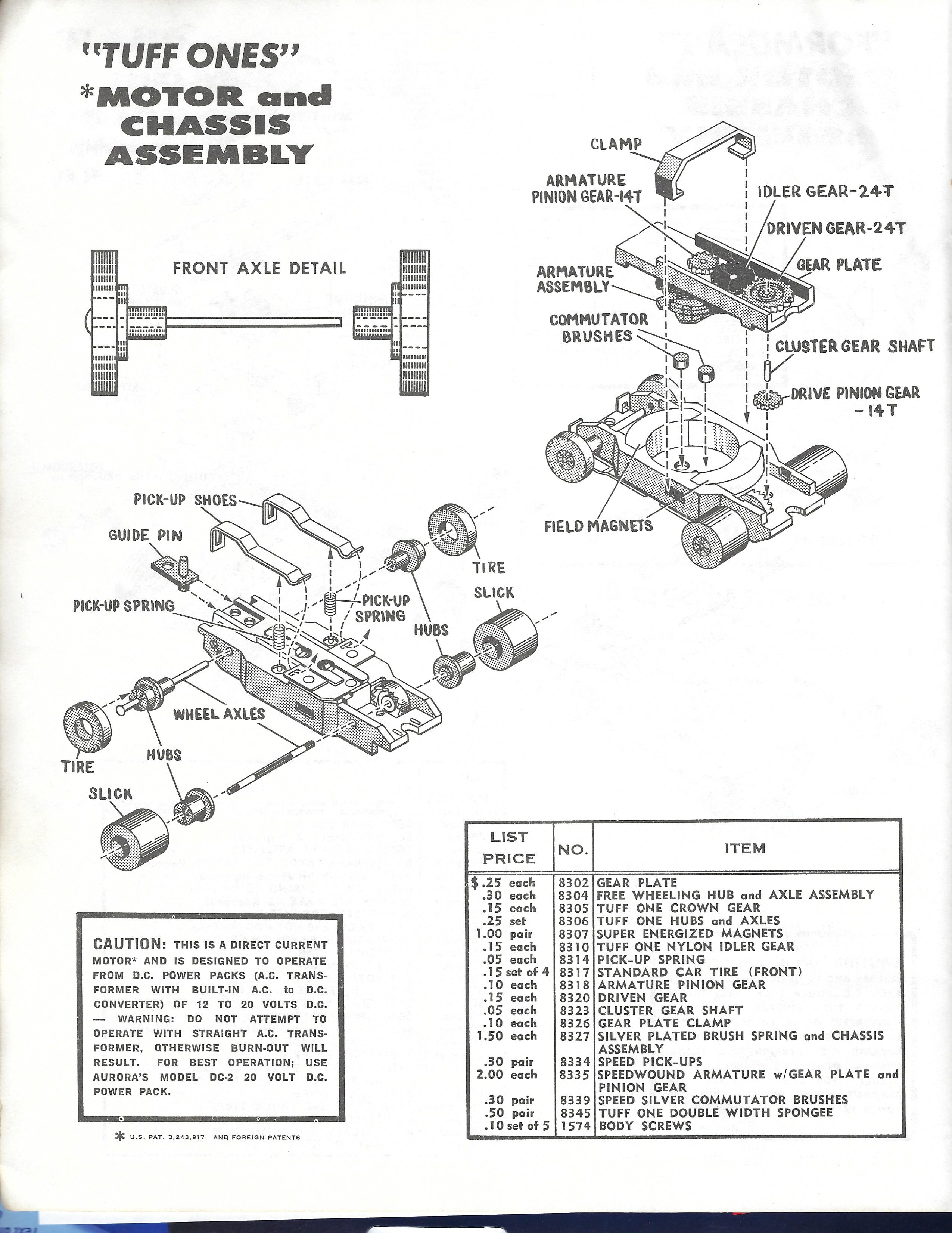 slot car schematic