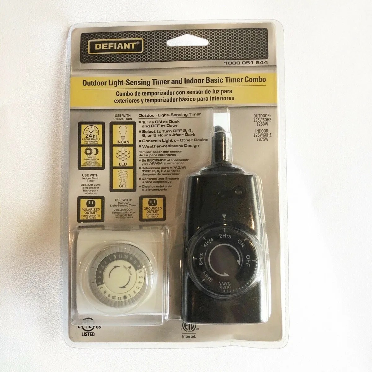 defiant outdoor light sensing timer