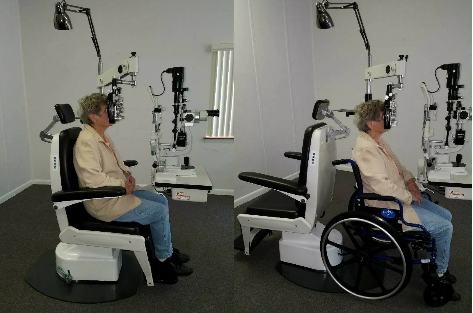 chair and stand optometry foam padding for kitchen chairs optilanes optometrist ophthalmologist