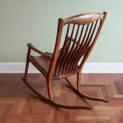 rocking chair fine woodworking high back testimonials michael murphy mere words don t express the beautiful artistic creations we have acquired from trident were so very fortunate to commissioned