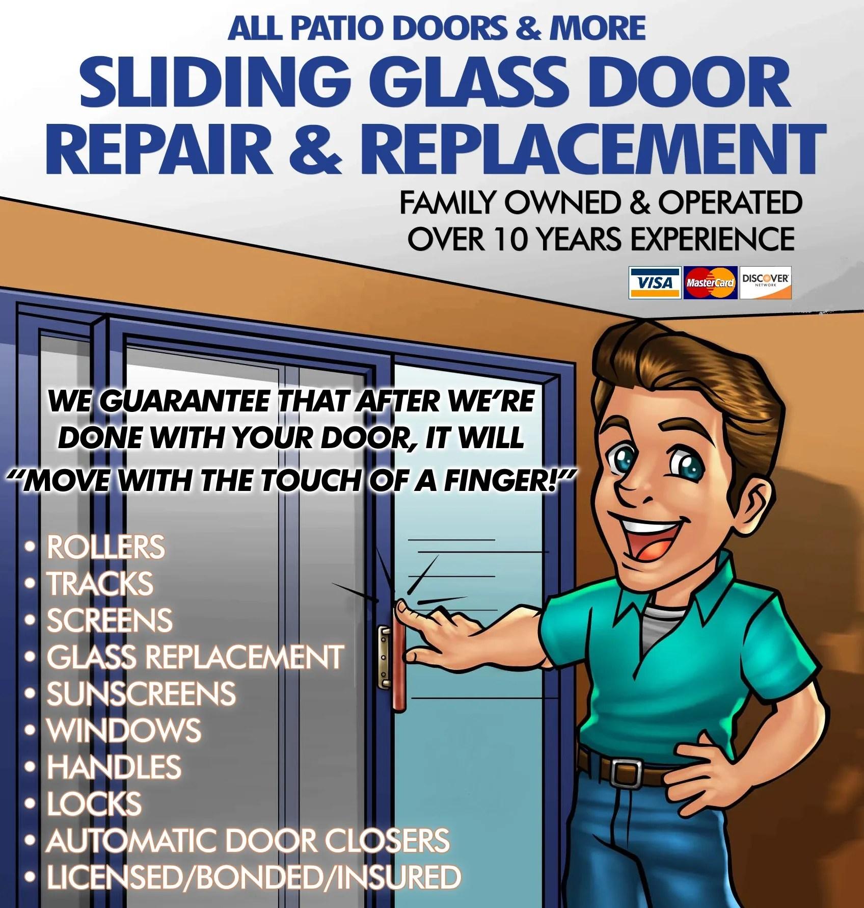 sliding glass doors door repair all