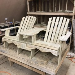 Double Adirondack Chairs With Umbrella Kneeling Chair Canada Outdoor Furniture