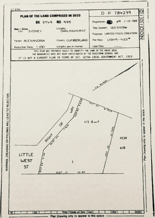 small resolution of plan shows an abandoned common law title strip of land marked right of way