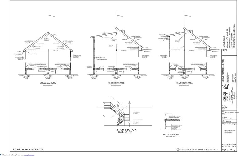 copyright architectural drawings and diagram labelled of hibiscus flower plans in atlanta drafting services