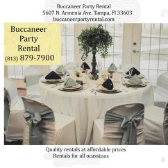 Chair Cover Rental Tampa Patio Rocking Set Party Supplies Buccaneer