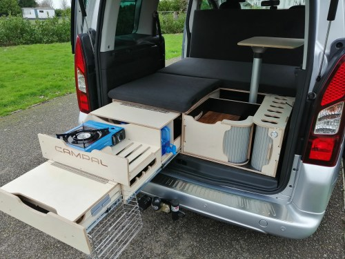 small resolution of box van camping idea