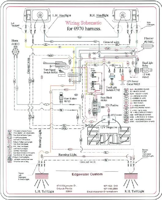 front headlight harness diagram 0862 chris products harness diagram