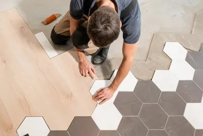 dry lay porcelain floor tile office