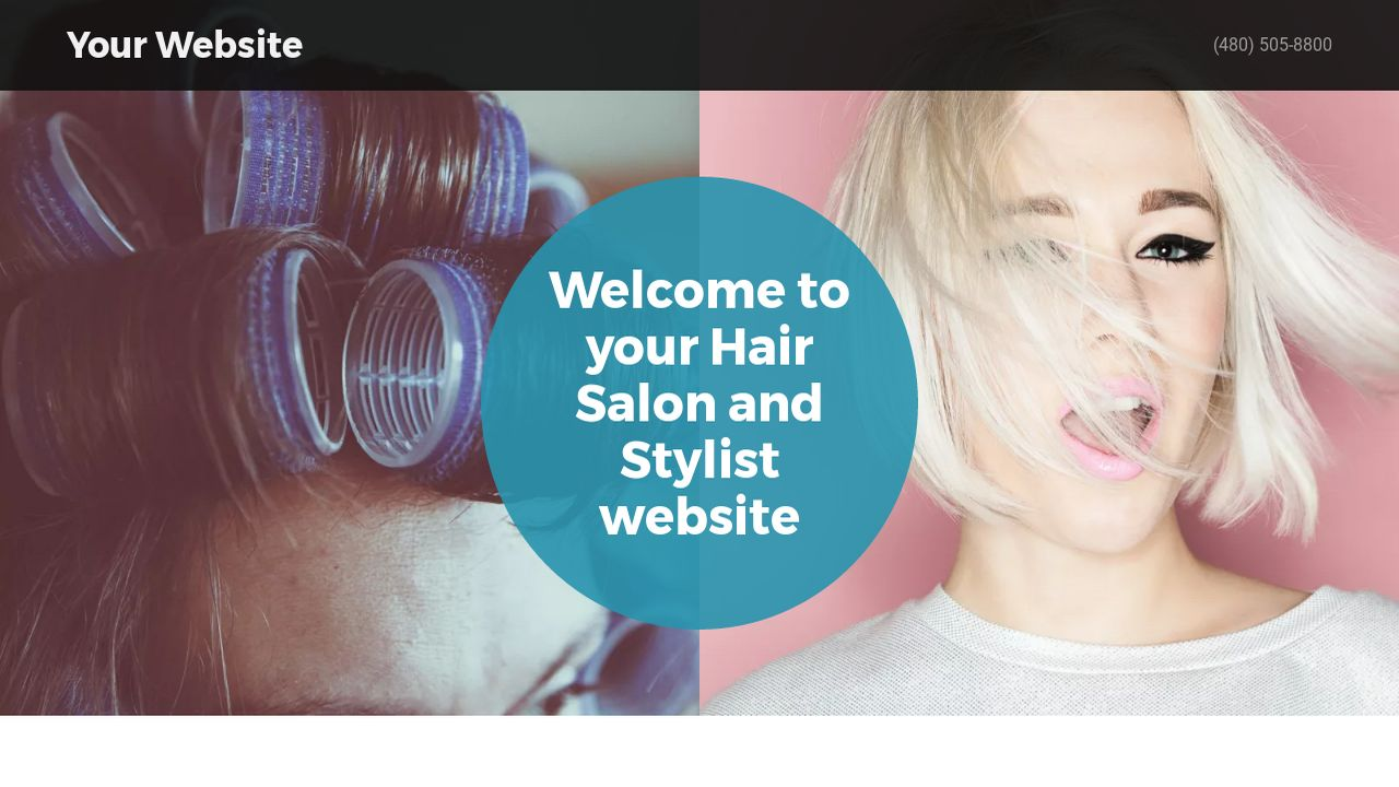 Hair Salon and Stylist Website Templates   GoDaddy