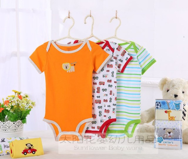 Bodysuits Foreign Trade Summer Carter Carters Cotton Short Sleeved Dress Baby Romper Baby Clothes
