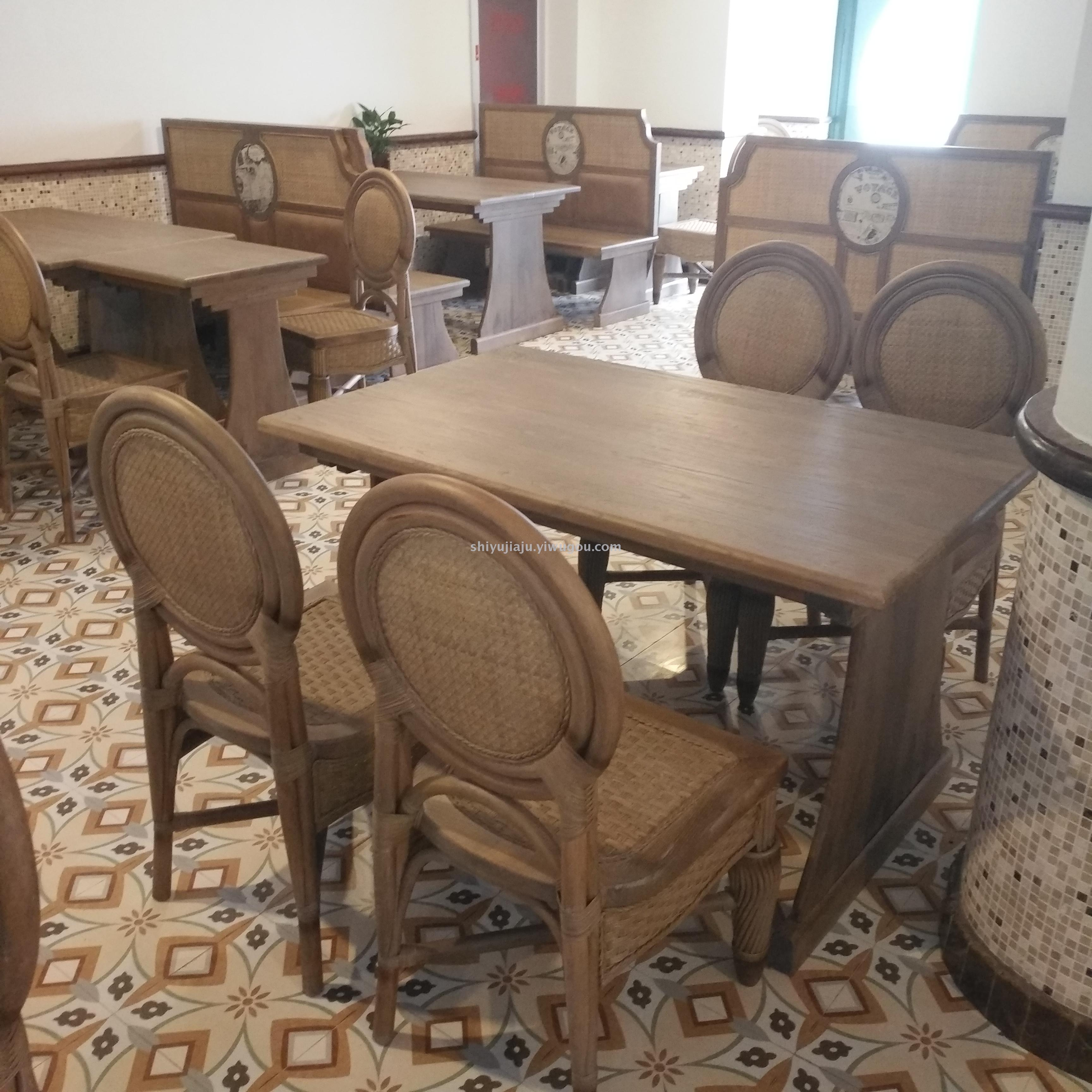 dining table and chairs hong kong football bean bag chair supply fashionable restaurant vintage rattan nongjiale classic type