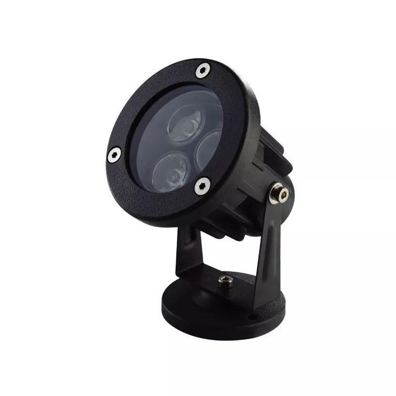 Projecteur extrieur LED spot lumineux RGB vert rouge bleu 3W 240LM