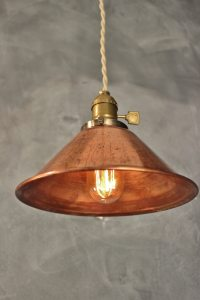 Weathered Copper Pendant Lamp - Vintage Industrial Hanging ...