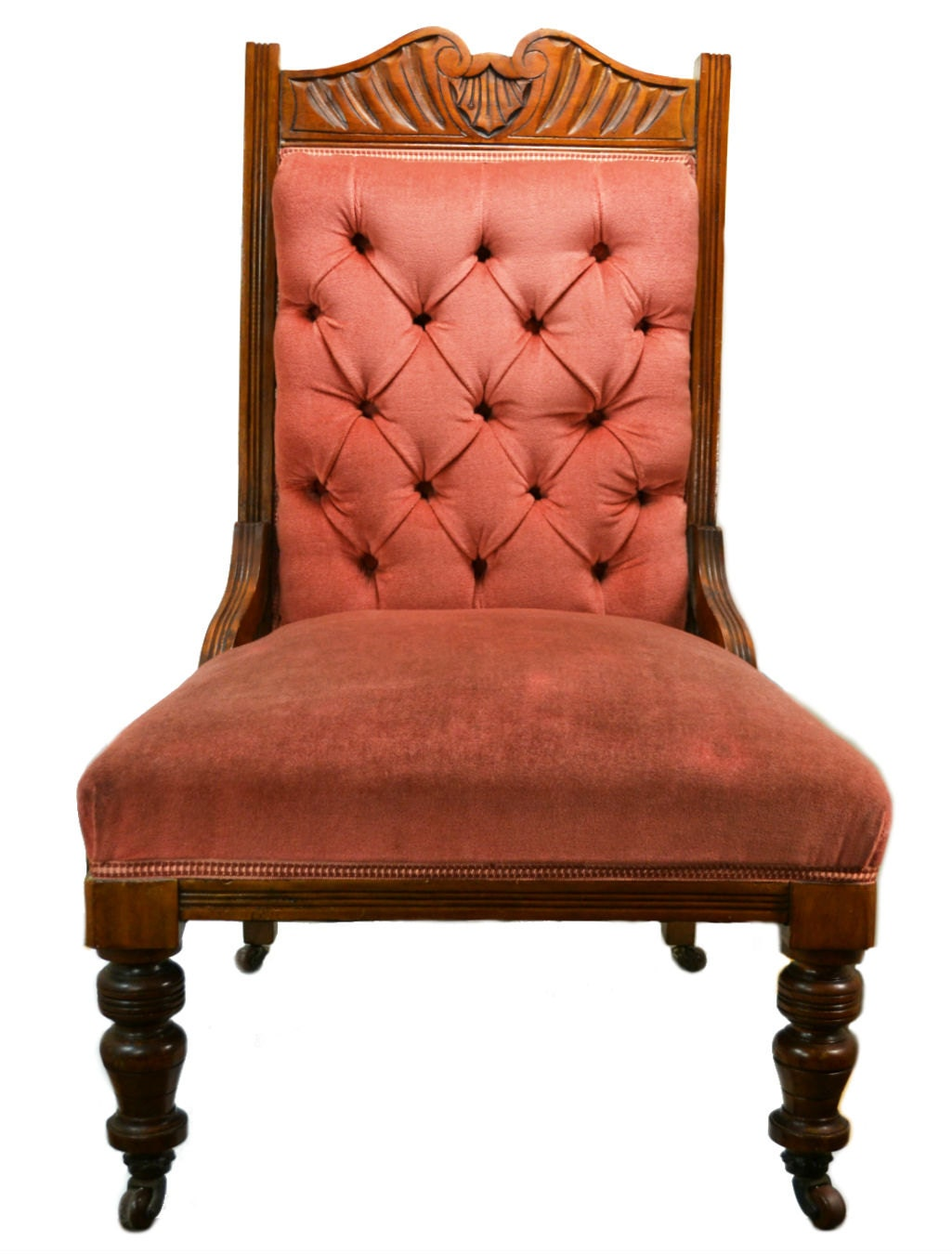 Elegant Chairs Antique Wood Decor Pink Elegant Chair High Victorian