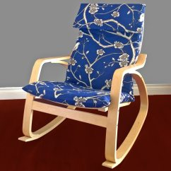 Ikea Poang Chair Review Home Theater Room Chairs Navy Flower Blossom Cover Decor