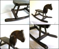 Antique Vintage Rocking Horse Toy Wood Riding Ride on ...