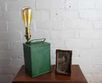 handmade lamp, green antique lubricants can desk lamp