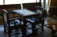 Vintage Chess set table and chairs | - Zeppy.io