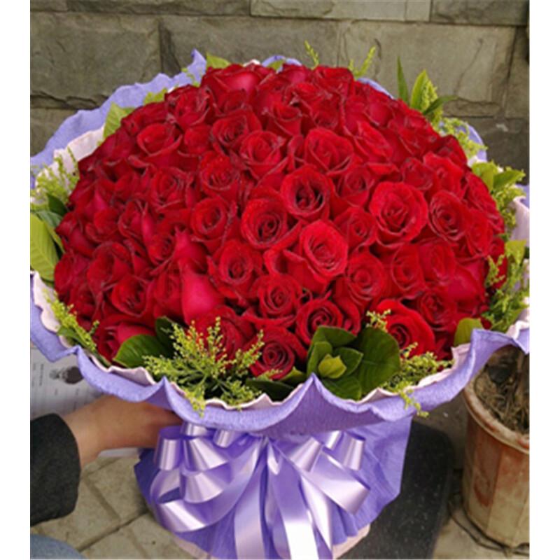99朵玫瑰花真實圖片