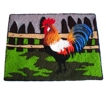 rooster kitchen rug 4 piece appliance packages 乐活美美特伦纯手工地毯 地垫 公鸡报晓 80 60 图片价格品牌报价 京东 公鸡厨房地毯