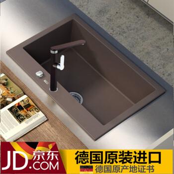brown kitchen sink used cabinets for sale luccio 德国原装进口 石英石水槽棕色花岗岩水槽厨房手工槽洗菜盆单槽 石英石水槽棕色花岗岩水槽厨房手工槽洗