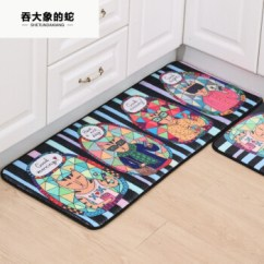 Large Kitchen Mats Stove Tops 吞大象的蛇 新印染脚垫浴室厨房垫儿童卡通地垫卧室客厅入户地毯地垫猫人 新印染脚垫浴室厨房垫儿童卡通地
