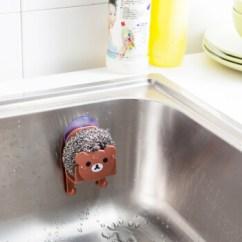 Brown Kitchen Sink Products 厨房水池水槽吸盘洗碗海绵钢丝球抹布挂钩置物架浴室杂物收纳架棕色 图片 厨房水池水槽吸盘洗碗海绵钢丝球抹布挂钩置物架浴室杂物