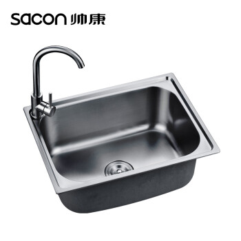 ss kitchen sinks small space tables for 帅康 sacon 单水槽不锈钢水槽厨房洗菜盆洗菜池水槽580 480 616b d 单水槽不锈钢水槽厨房洗菜盆洗菜池水槽
