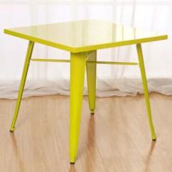 Metal Kitchen Tables New Cabinet Doors 霍客森正方形铁餐桌金属桌子会谈桌接待桌休闲桌子黄色 图片价格品牌报价 京东
