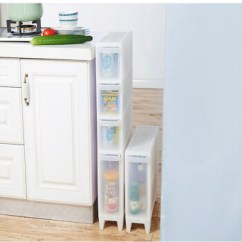 Kitchen Pantry Cabinets Freestanding Built In Garbage Cans 可拆装缝隙抽屉柜夹缝收纳柜厨房收纳箱 四层 图片价格品牌报价 京东 厨房食品柜独立式