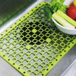 Kitchen Sink Mats Best Stainless Steel Sinks 日本进口厨房水槽垫洗碗池垫下水器蔬菜水果沥水垫子水池过滤网绿色 图片 日本进口厨房水槽垫洗碗池垫下水器蔬菜水果沥水垫子水池