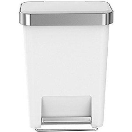 simplehuman kitchen trash can small cabinet 美国直邮simplehuman 长方形塑料垃圾桶45升45升长方形垃圾桶白色塑料 长方形塑料垃圾桶45升45升长方形垃圾桶白色