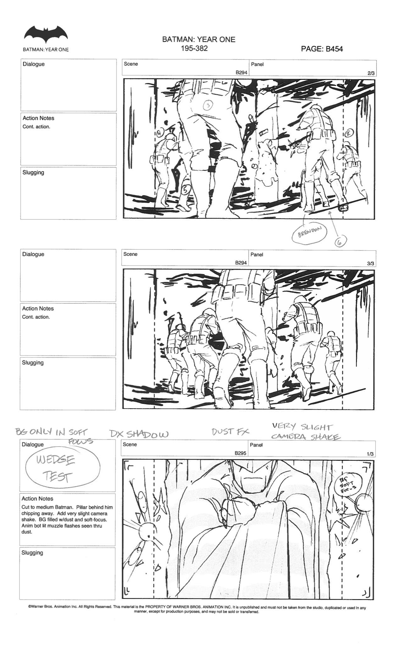 Batman Year One Storyboards Pt2 By Zwyer On Deviantart