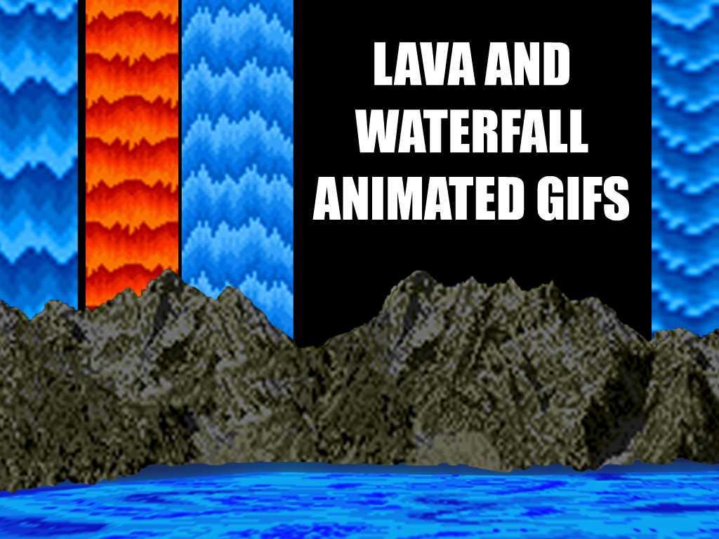 Sonic Fall November Wallpaper Lava Waterfall Animated Gifs By Dbszabo1 On Deviantart