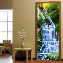 Living Room Waterfall Furniture Decorating 4 Chairs Shop 3d Forests Mural Wallpaper Study Classic Photo Wall Door Sticker Home Decor