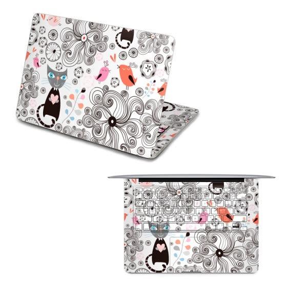 Shop GEEKID@Macbook Pro 15 decal front sticker cat macbook