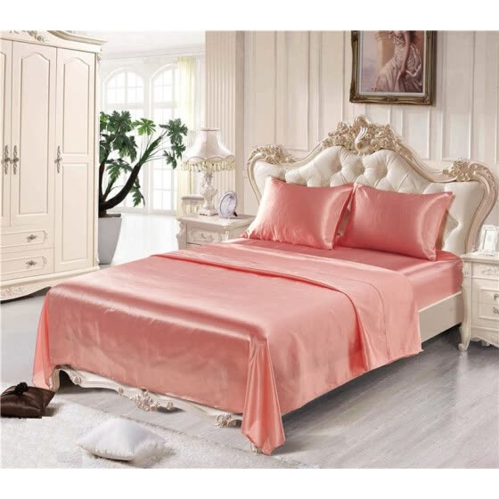 shop soft silk fitted sheets sets satin