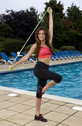 Kelly Brook introduces Reebok and Cirque du Soleil's revolutionary JUKARI Fit to Flex workout with a Flex Mob of 100 women at on July 13, 2010 in Raynes Park - Hot Celebs Home