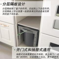 Kitchen Trash Can Pull Out Corner Sink 厨房抽拉式垃圾桶水槽橱柜嵌入式分类桶柜内隐藏垃圾桶可连门抽拉式垃圾桶 检验报告