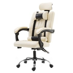 Ergonomic Chair Home White Slipcover And A Half Oron Ford Computer Office E Sports With Massage Boss Anchor Leather Pillow