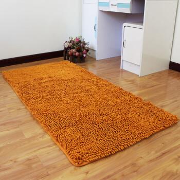 orange kitchen rug outdoor kitchens houston 雪之恋 雪尼尔地毯 80*160cm 卧室床边厨房玄关飘窗地毯可爱简约可水洗吸 橙色【图片 价格 品牌 报价】-京东