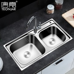 3 Basin Kitchen Sink Ikea Rug 唐嘉 Teonjar 水槽双槽304不锈钢拉伸洗菜盆厨房水槽76 42 Tj7642 配 水槽双槽304不锈钢拉伸洗菜盆厨房