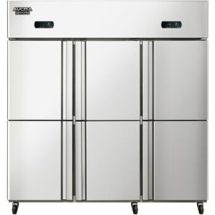 Commercial Kitchen Doors Floor Marble 澳柯玛 Aucma 商用厨房冰箱立式冰柜不锈钢冷柜六门双温柜vcf 1300d6 图片价格品牌报价 京东